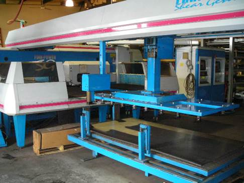 Finn Power Shear Genius with automated sheet loader at MWG