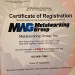 ISO CERTIFICATION | METALWORKING GROUP