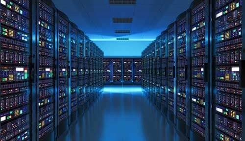 Rows of Data Storage Devices