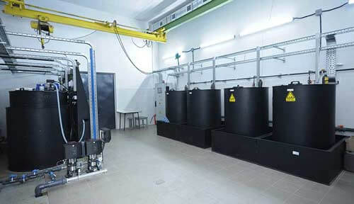barrels of chemicals